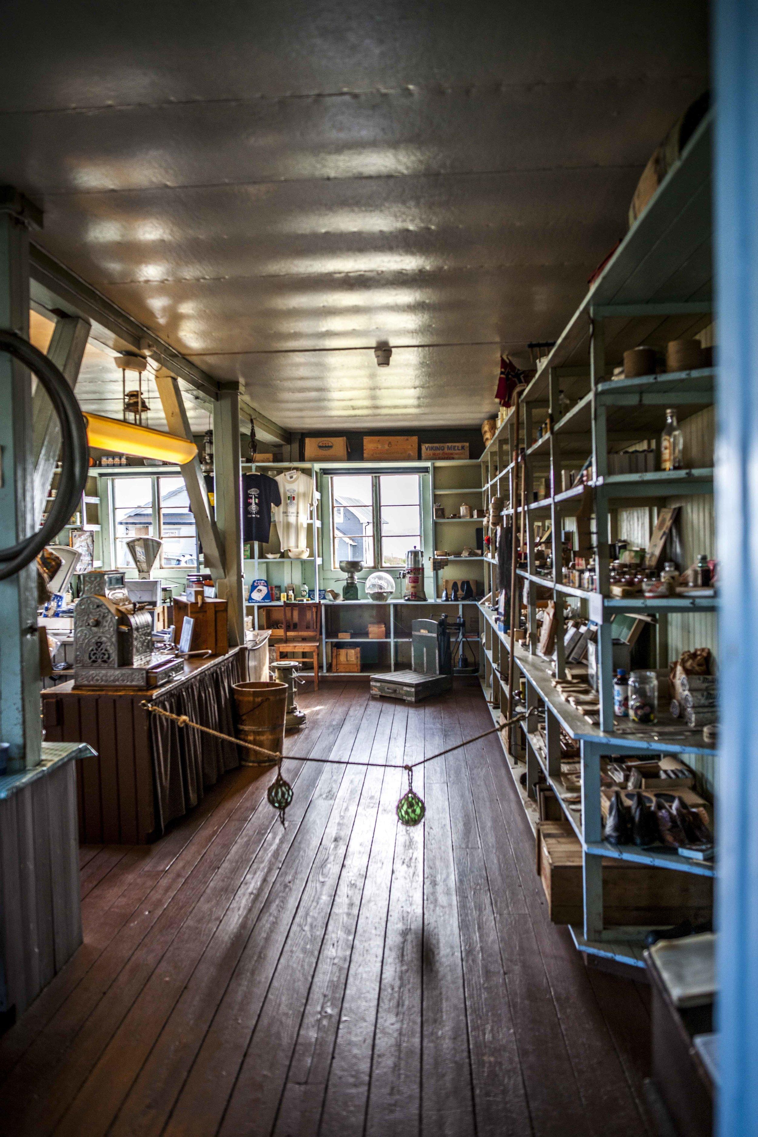 Kjeldsenbruket/Ekkerøy museum old shop
