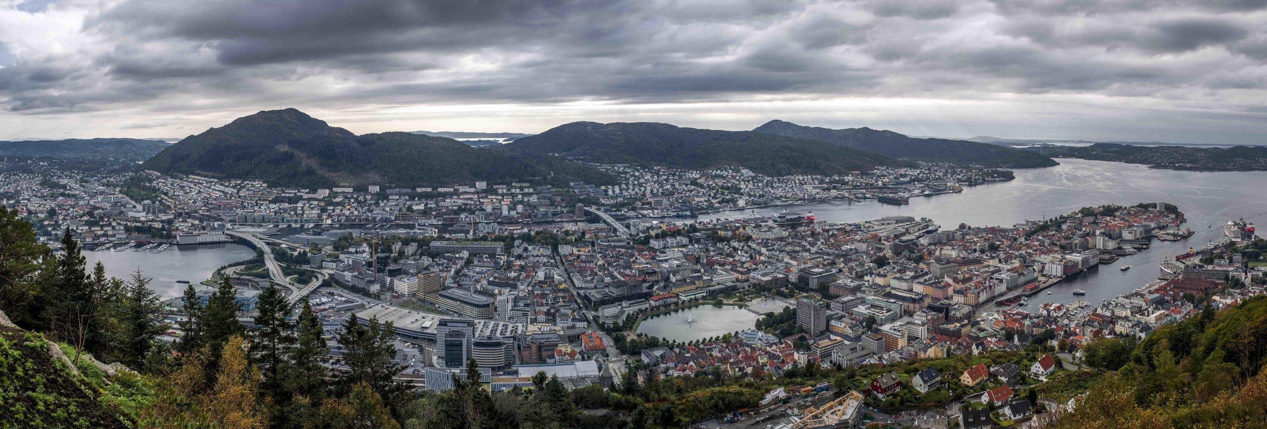 Bergen seen from Fløyen