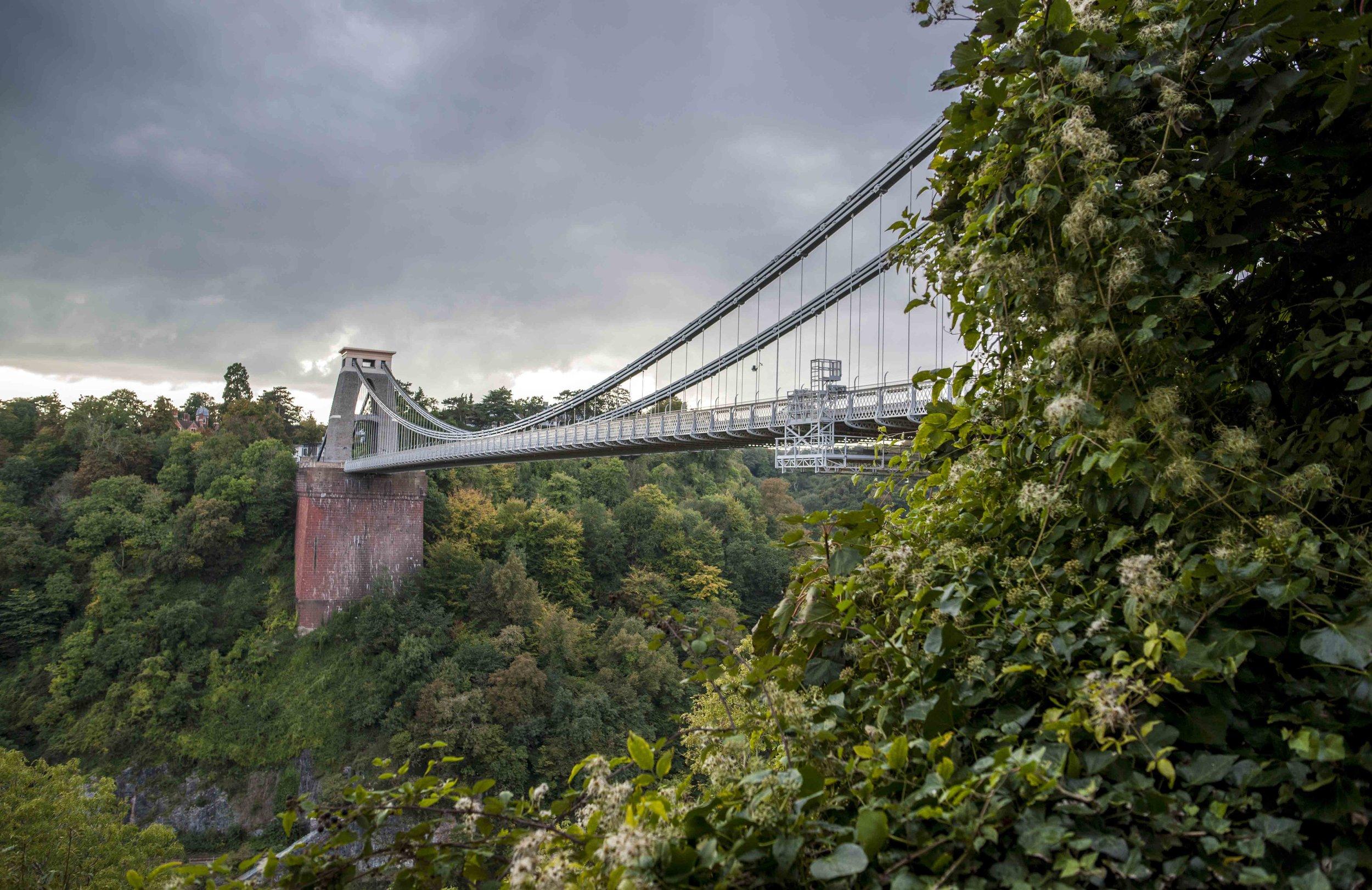 Clifton Suspension Bridge, opened 1964 in Bristol