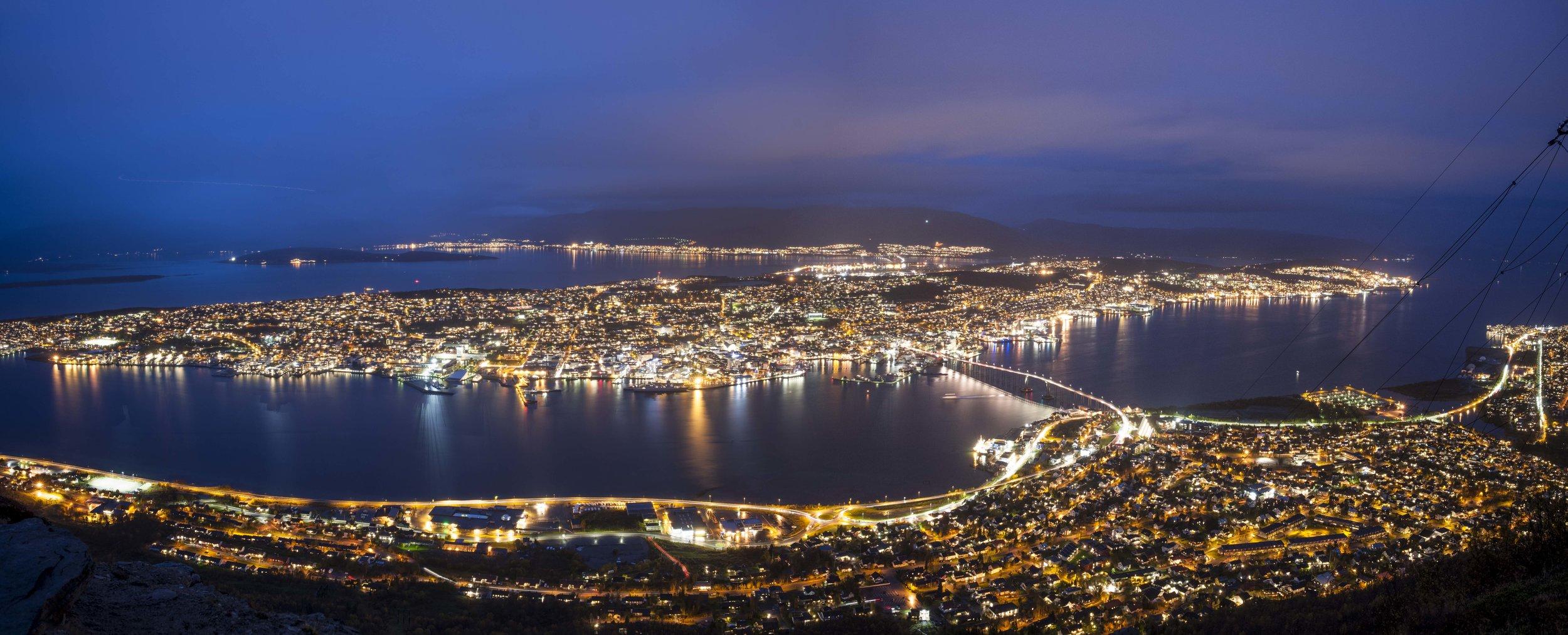 Tromsø by night, Norway
