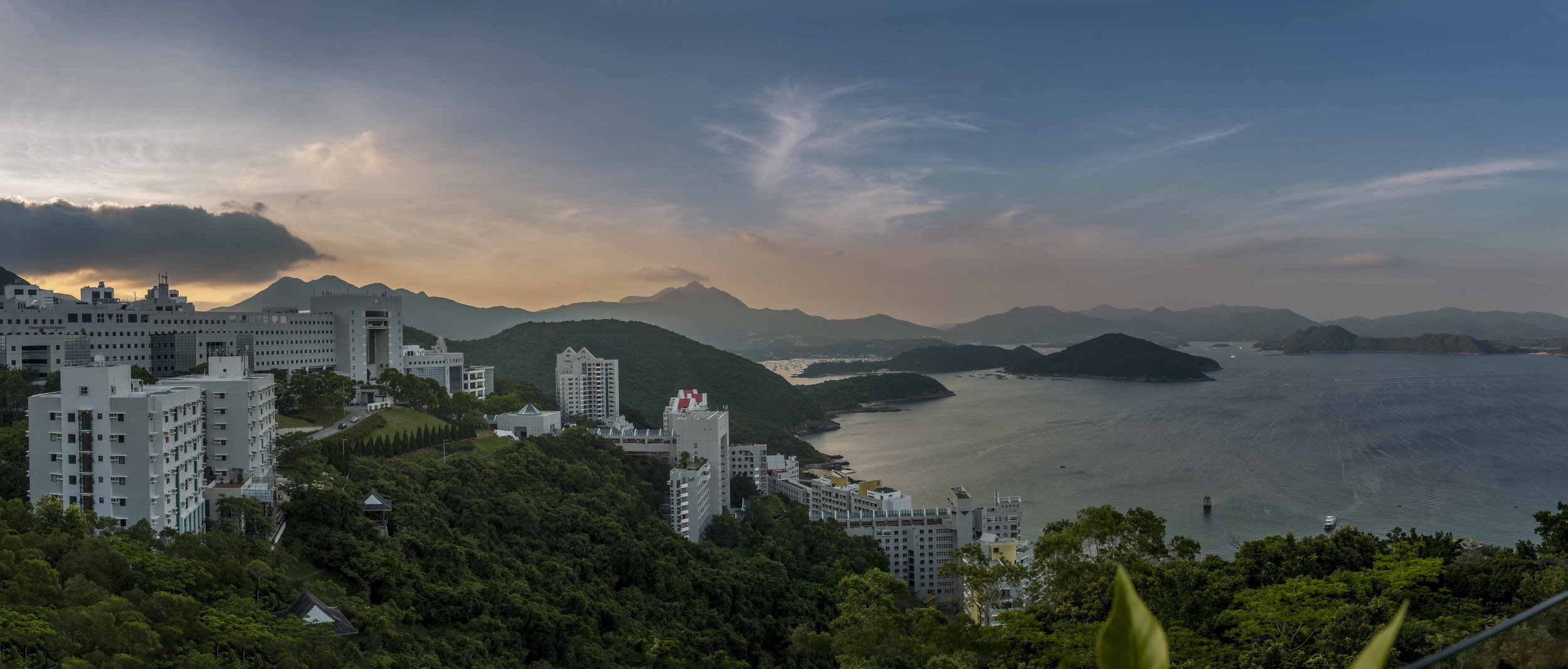 View over HKUST Campus from the flat we stayed in