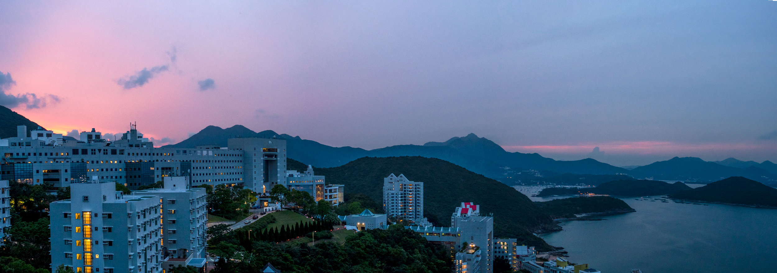 View of Hong Kong University of Technology and Science from our colleagues balcony