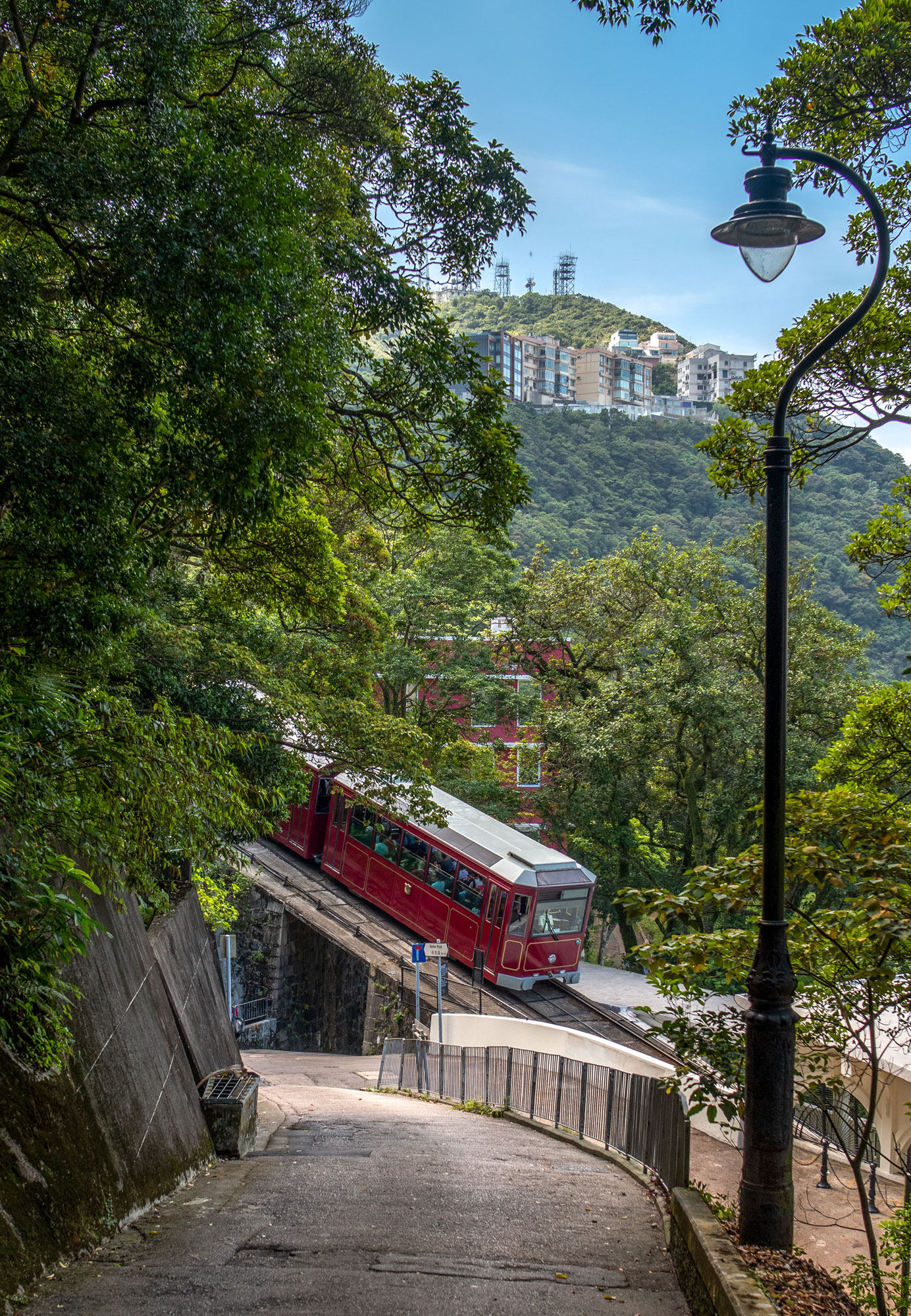 Path from Victoria Peak with tram