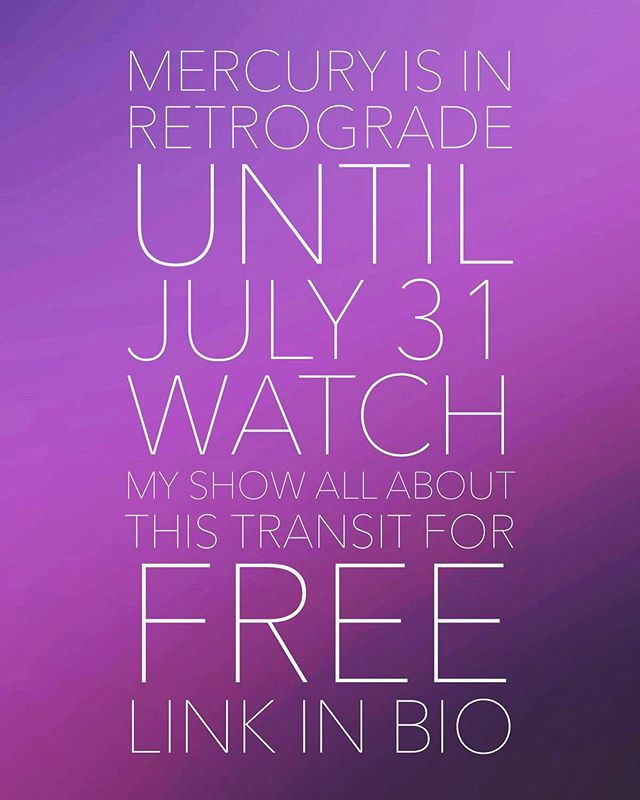All of the shows on @thelightersidenetwork are free now! You just need to sign up for a login number to see ALL of the shows on our network- go to the link in my bio to see the Mercury Retrograde episode✨💫