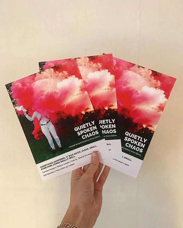 Happy Friday all! Very excitingly flyers have arrived today and they are looking great! Make sure you book your tickets as it's selling! Thanks to @emilythommes for the design. @camdenpeoplestheatre 15-16th Oct 7:15pm.