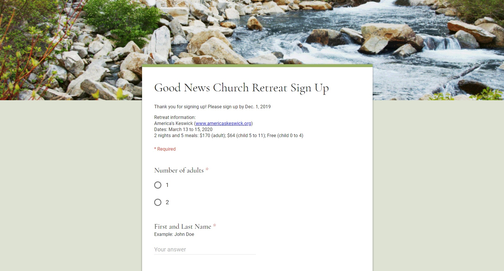 Click here to sign up