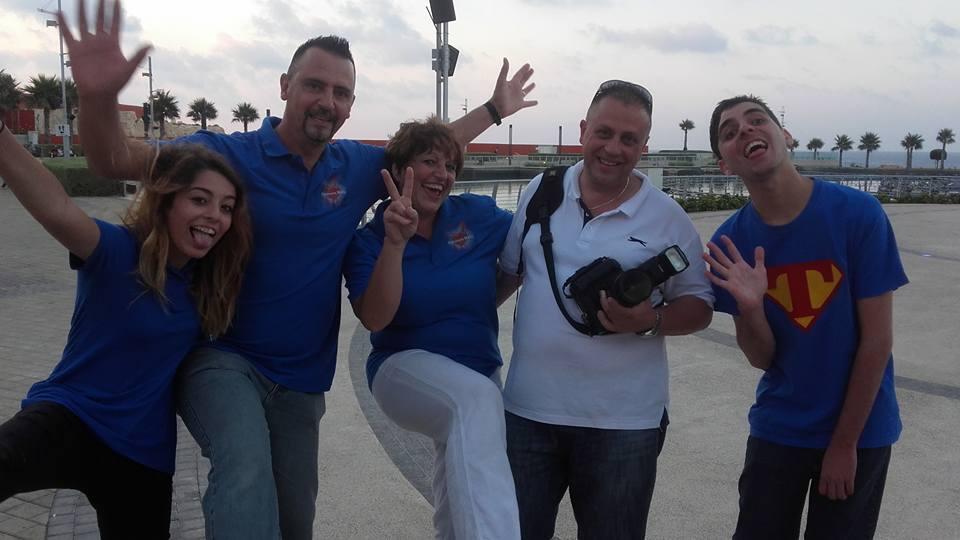 The Cachia family celebrating life during the calendar photo shoot