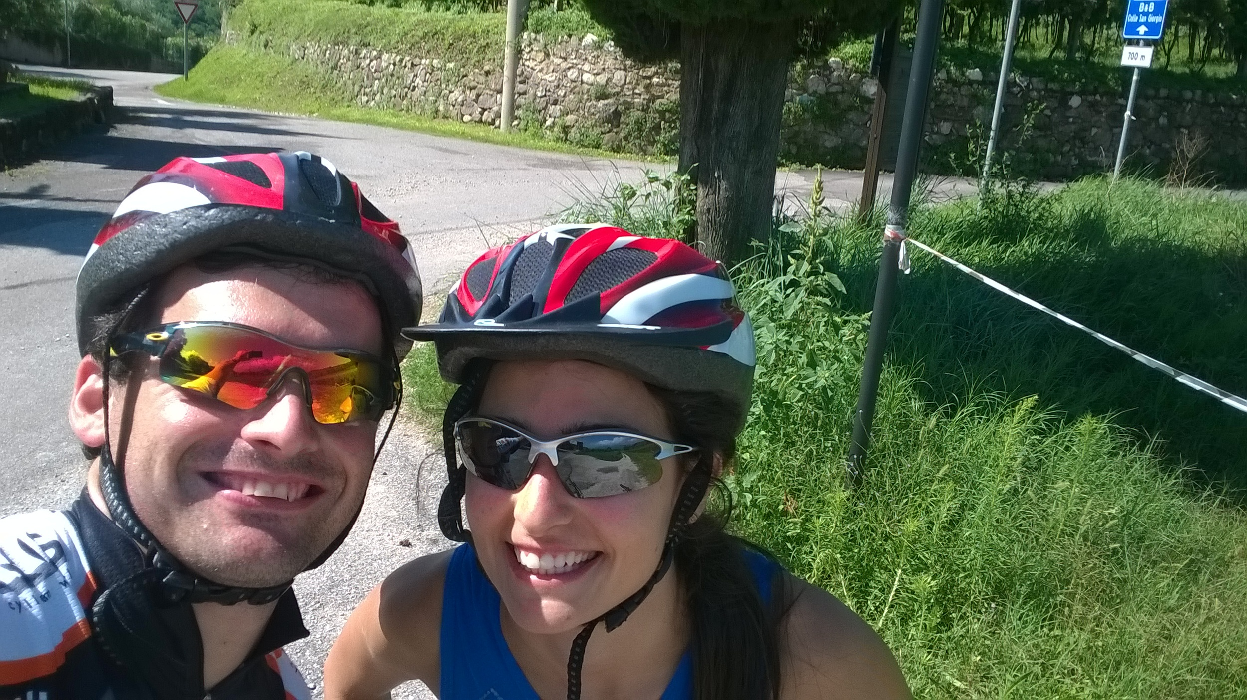 Cycling trip in Bardolino on our honeymoon