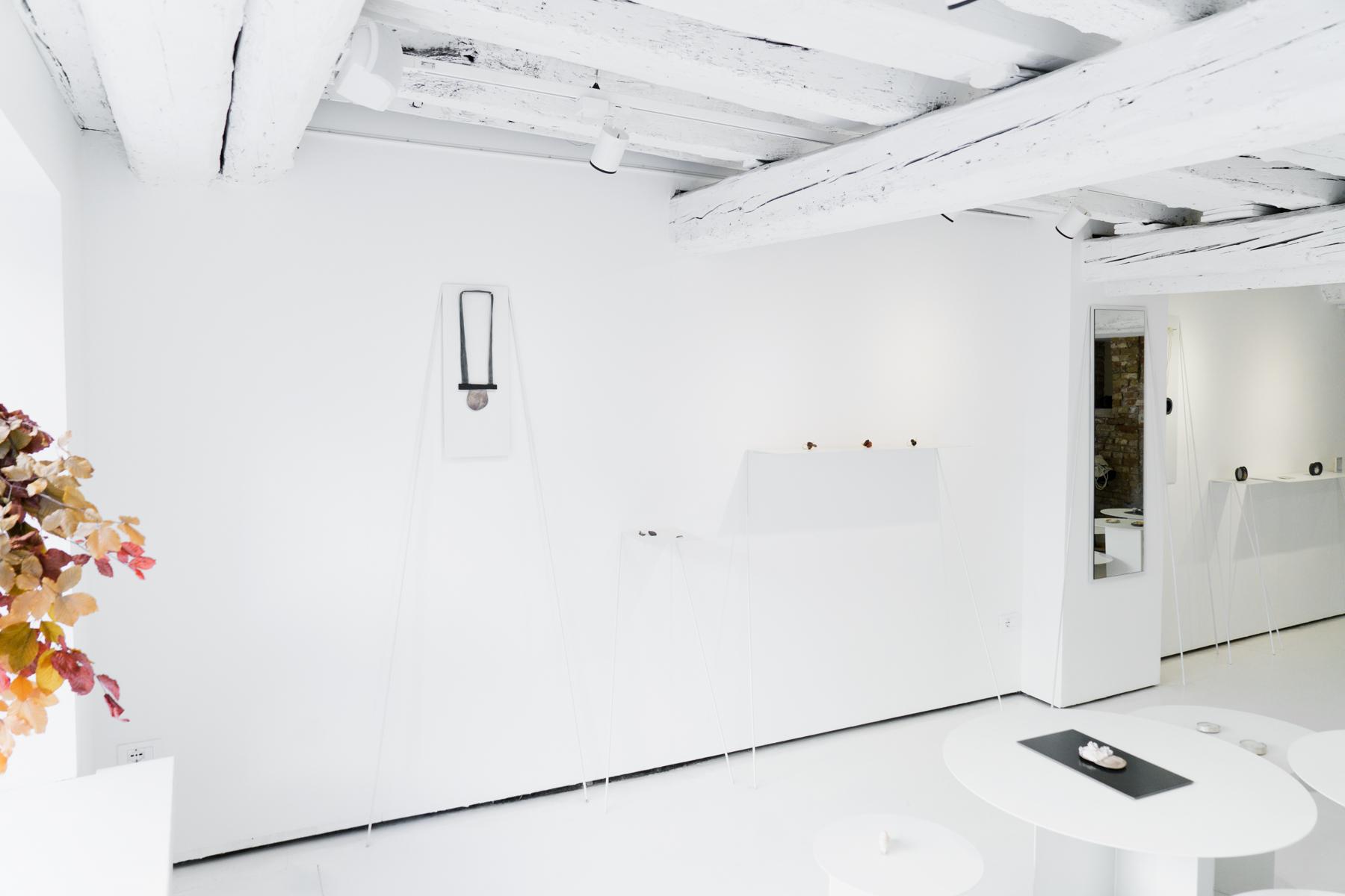 Exhibition view,  Treasuries&Transience , Isabel Dammermann, 2016, OHMYBLUE, Venice, Italy,photo:Riccardo Banfi