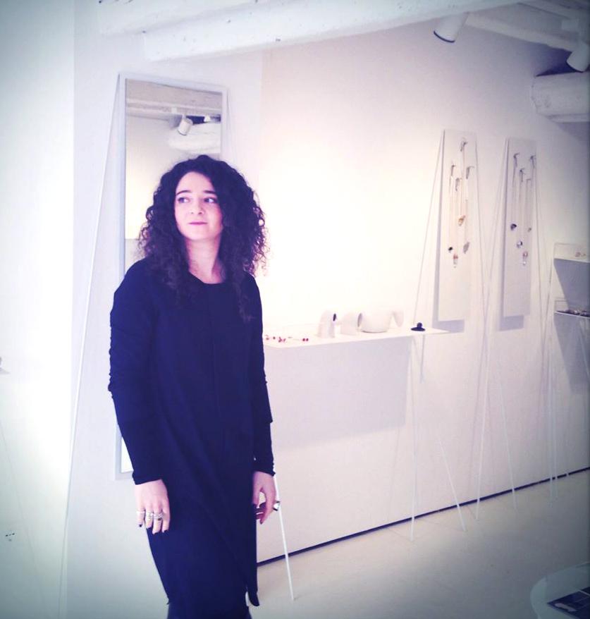 Elena Rizzi in her gallery, photo: Chiaralice Rizzi