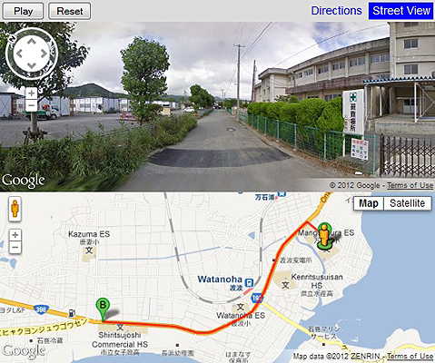 Japan tsunami: The route one woman took