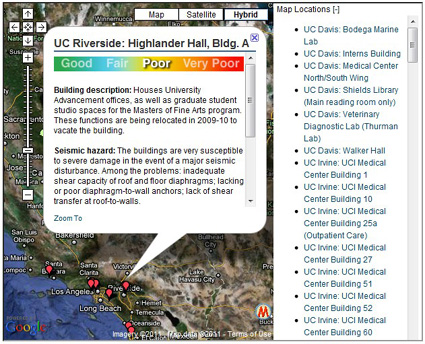Seismically hazardous buildings in the UC system