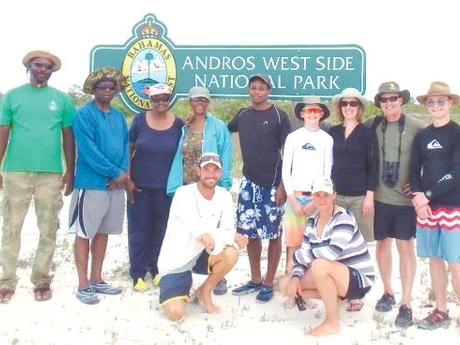 U.S. National Park Service officer Visits Andros - April 2016, Bahamas Local