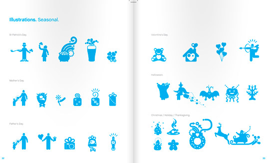 Skype's style guide  includes its own illustrations