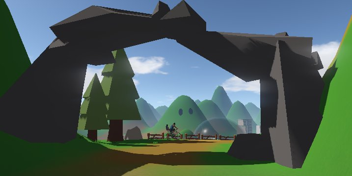A screenshot from the demo track shown at TwitchCon, prior to the Kickstarter