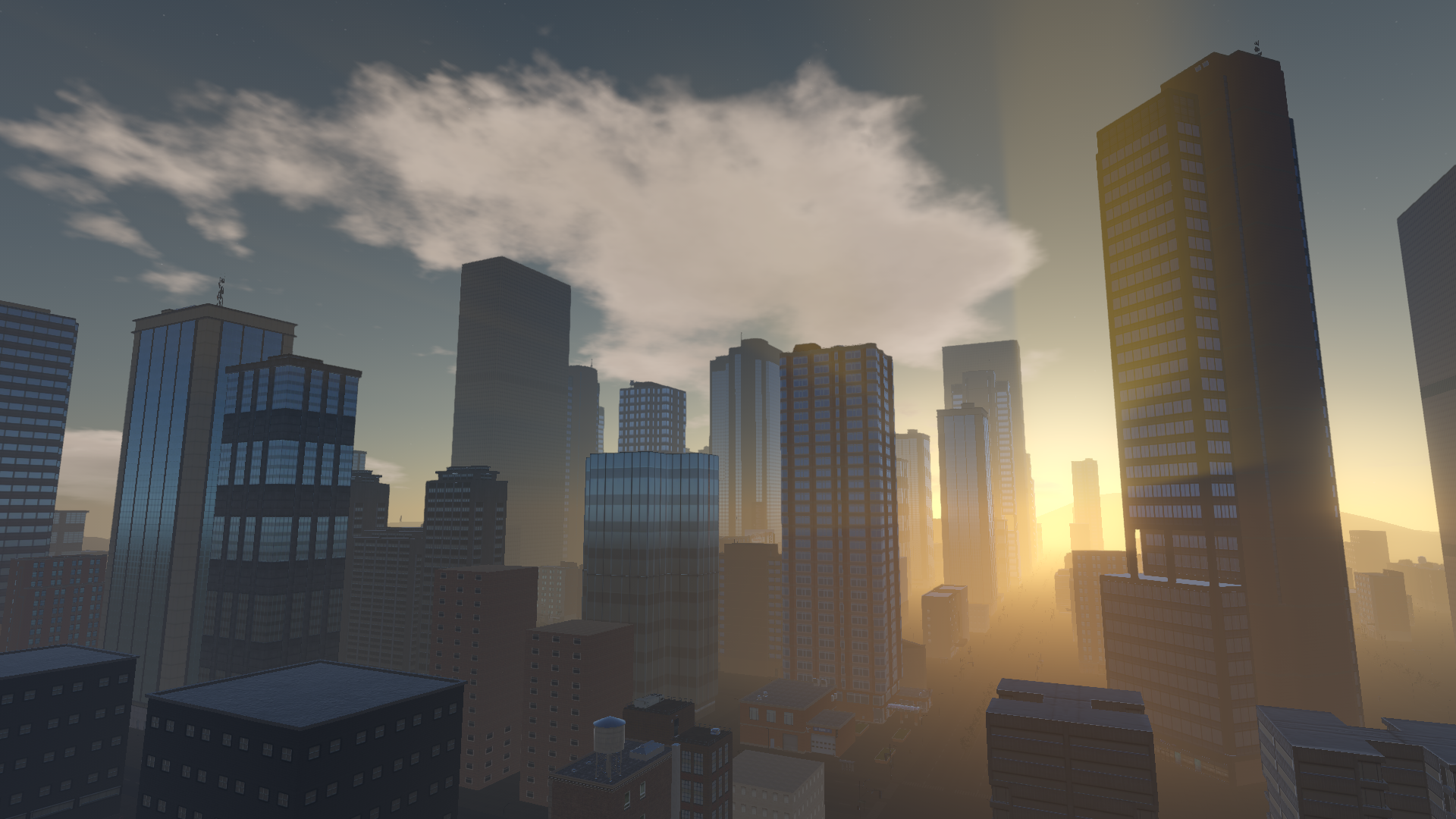 Lucid City sunset
