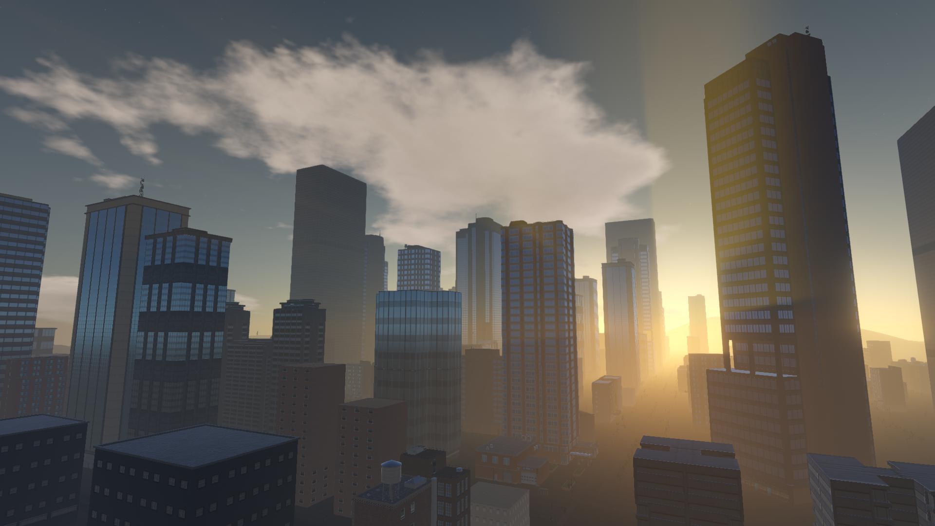 Lucid City sunset