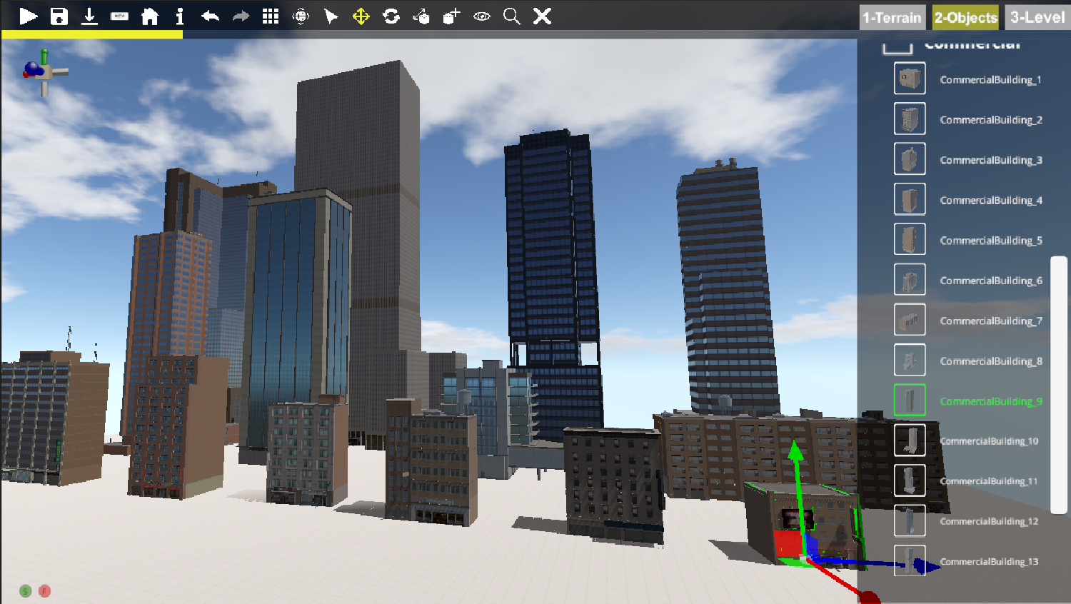14 buildings from Larry's Lucid City map are now in the Level Editor