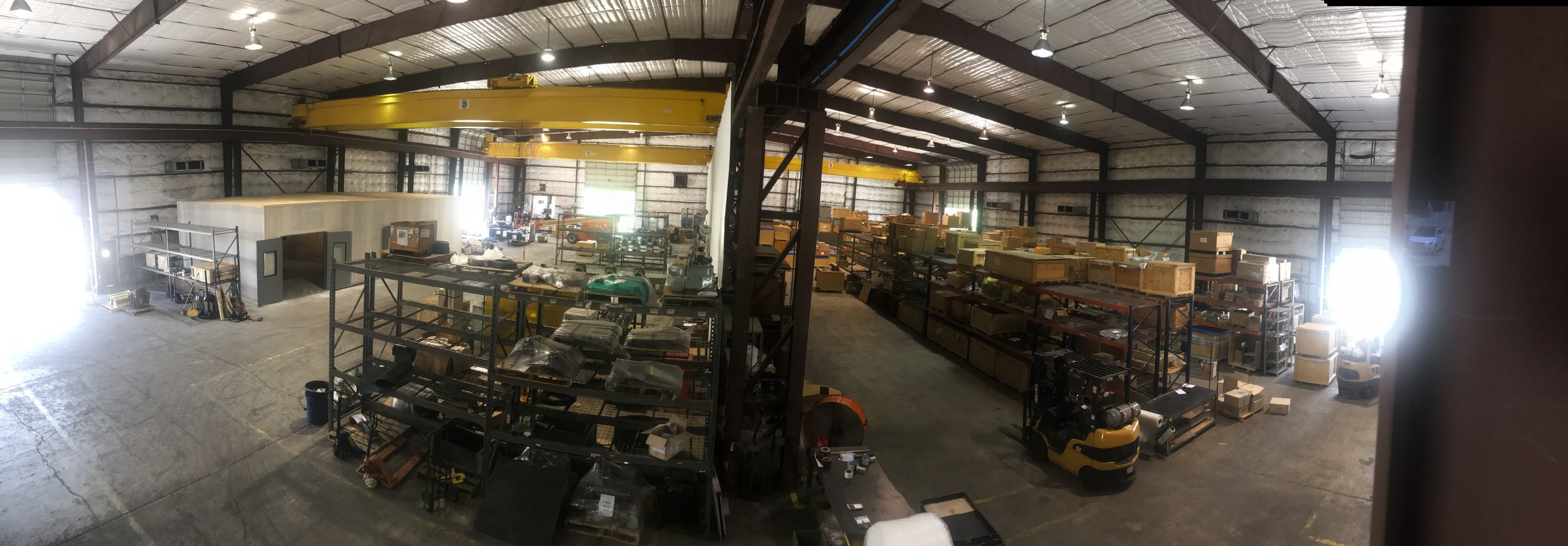 Bird's eye view of our warehouse and workshop today, 13 July, 2018