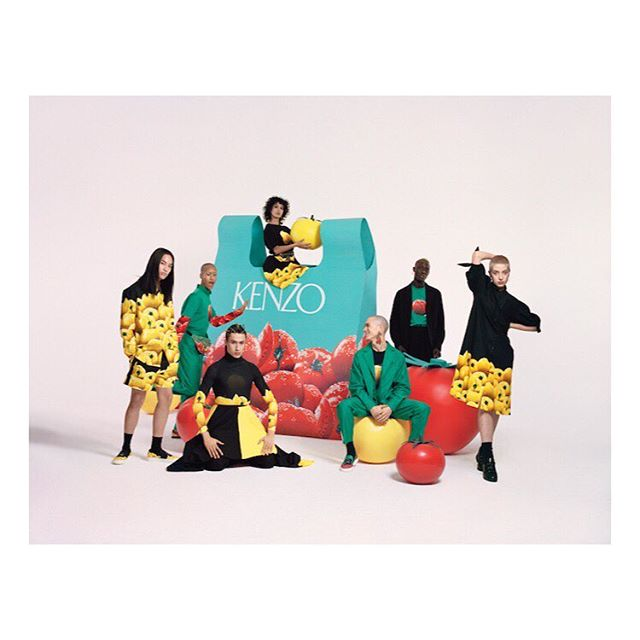 Getting in the mood for a Friday big shop with our giant supermarket chic props for @kenzo memento4 collection. working in collab with the wonderful @zapotsang 🍅🍅🍅🛒💥💥