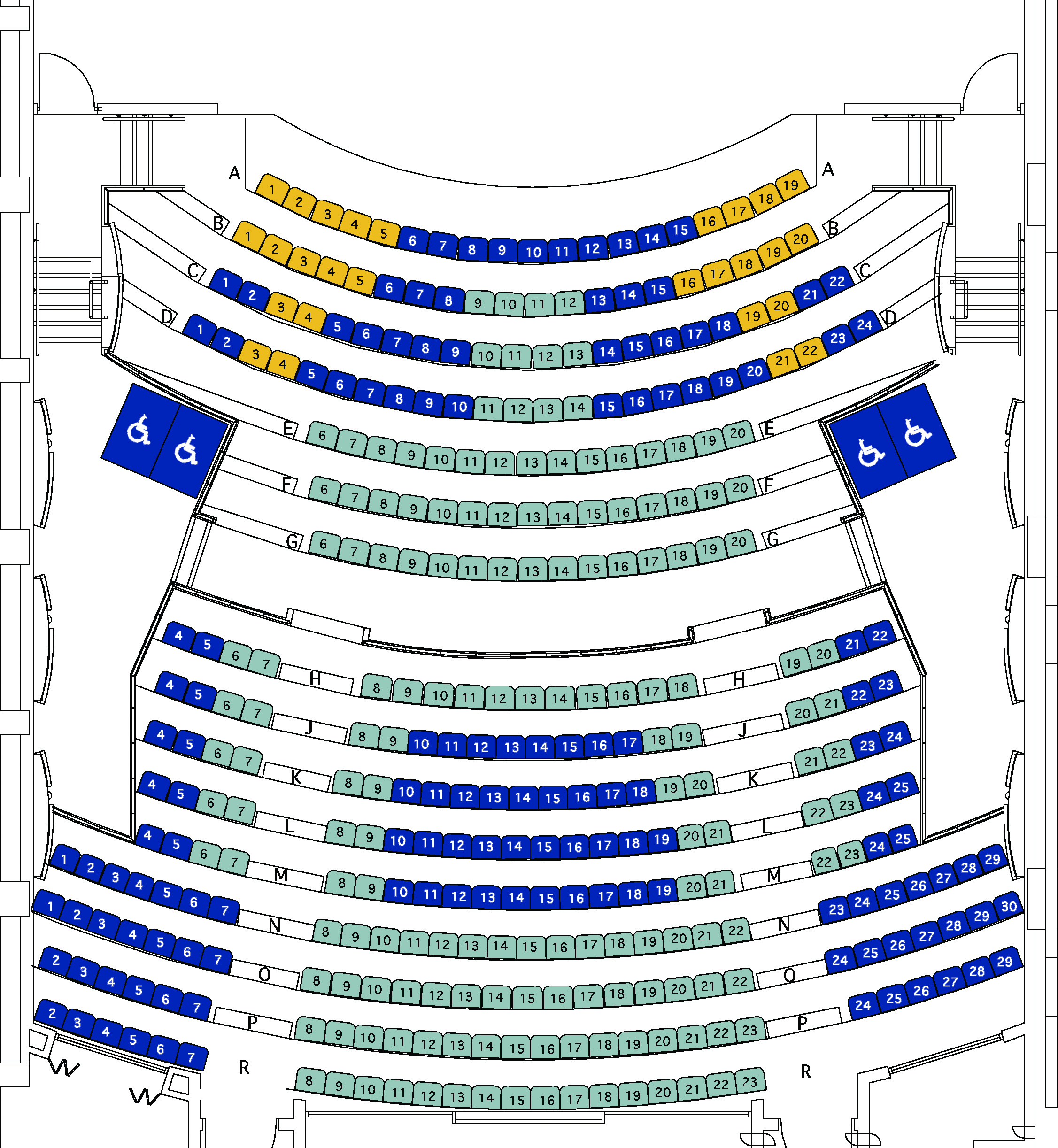 Playhouse Theatre Seating Map   (click to enlarge)