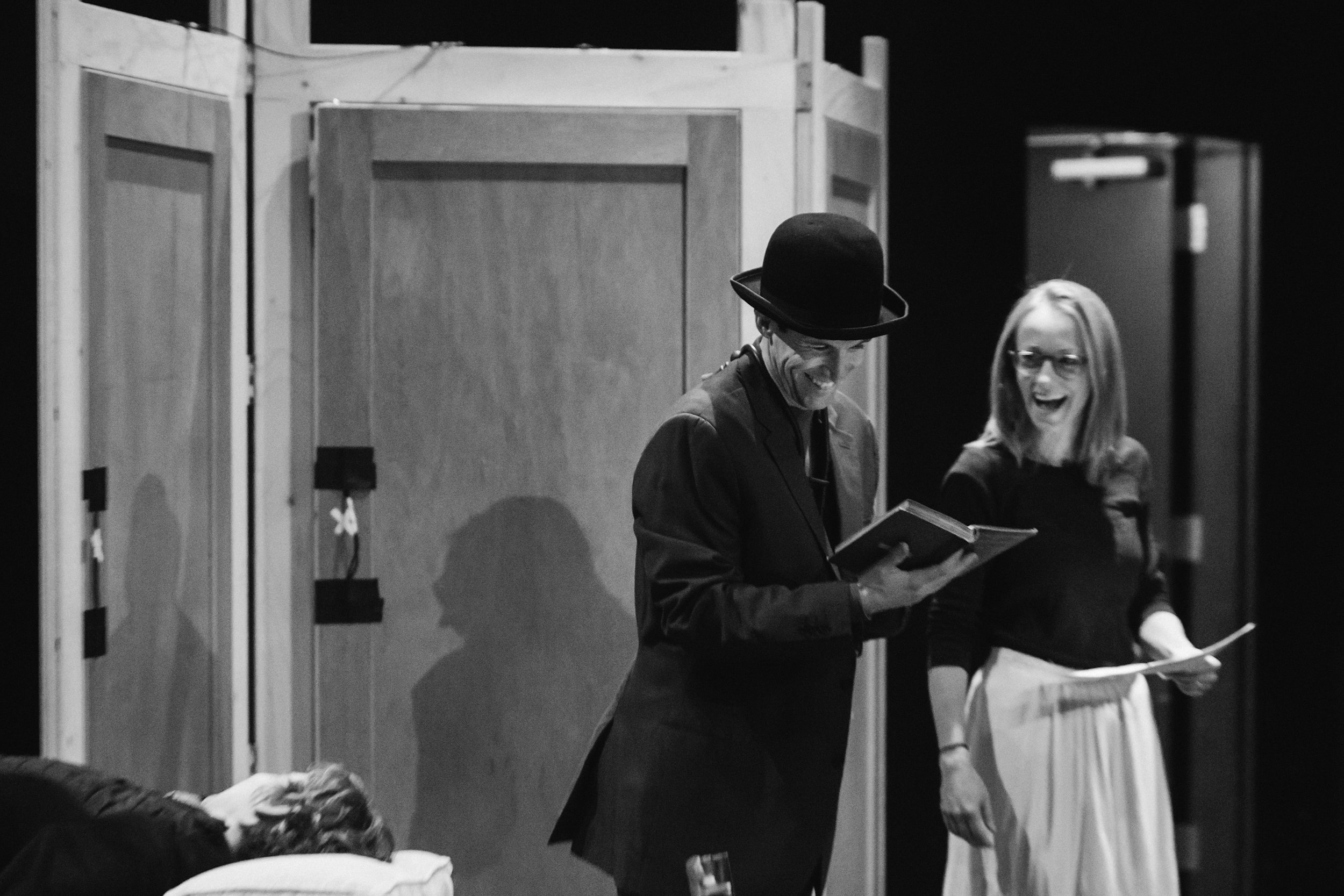 Rehearsals for DRACULA: THE BLOODY TRUTH. Featuring Stafford Perry and Julie Orton. Diane + Mike Photography