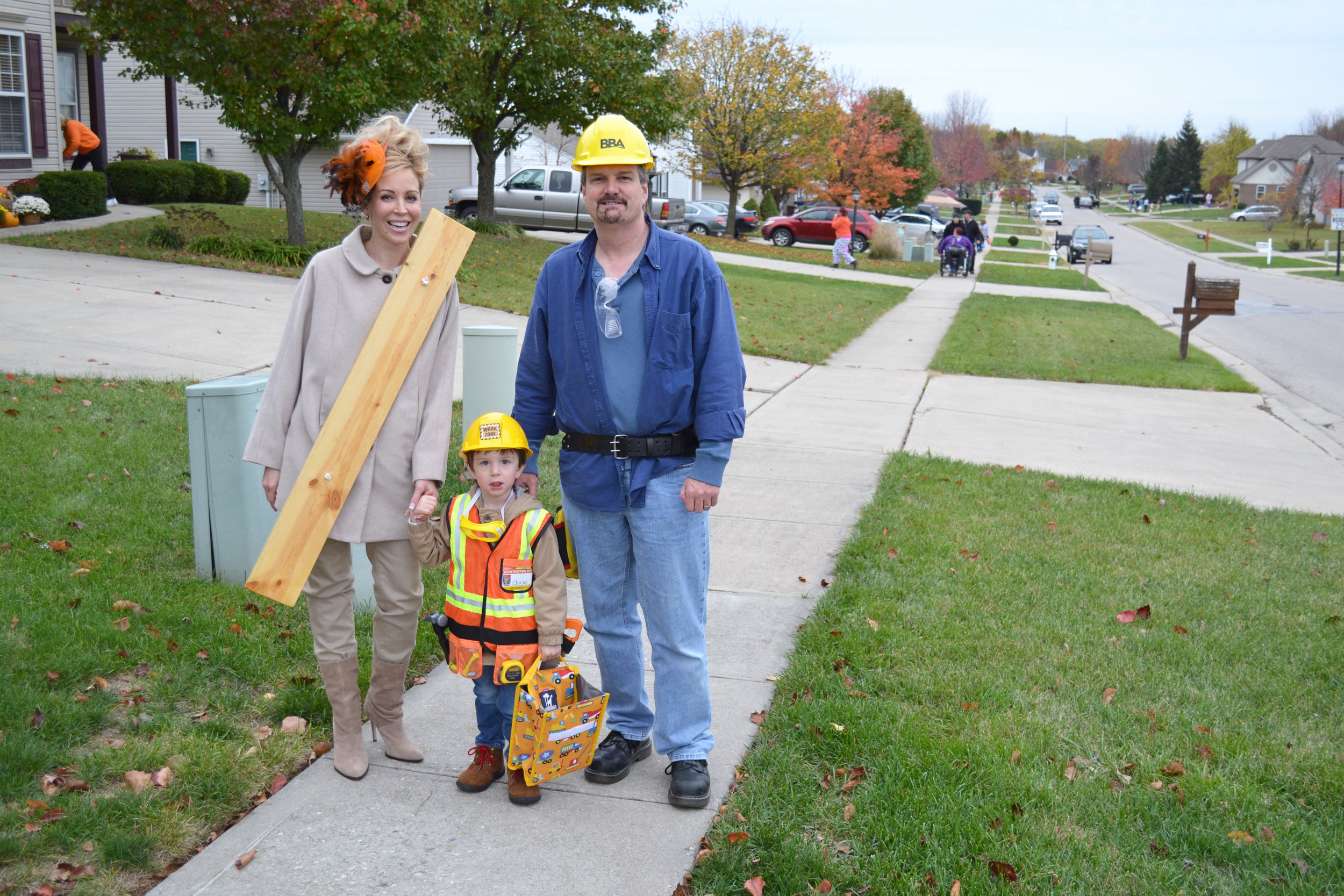 Family Trick or Treating in Oma's neighborhood adj.jpg