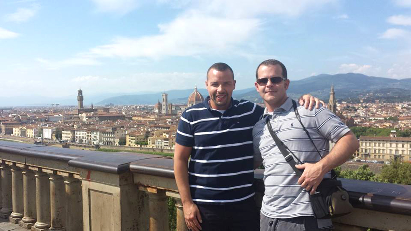 Taking in the sites in Florence, Italy