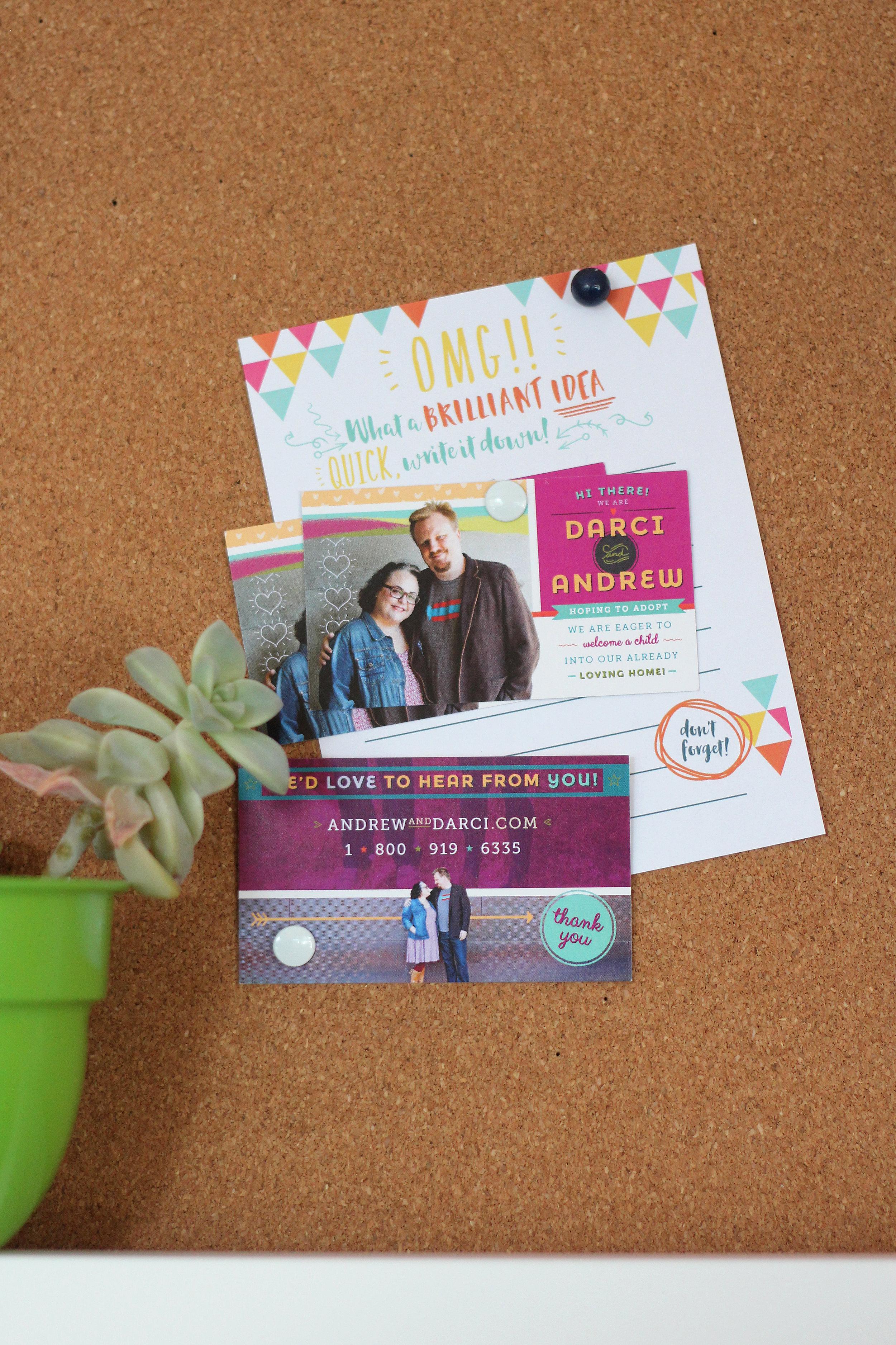 Hopefully Parents Custom Outreach Cards Adoption Materials