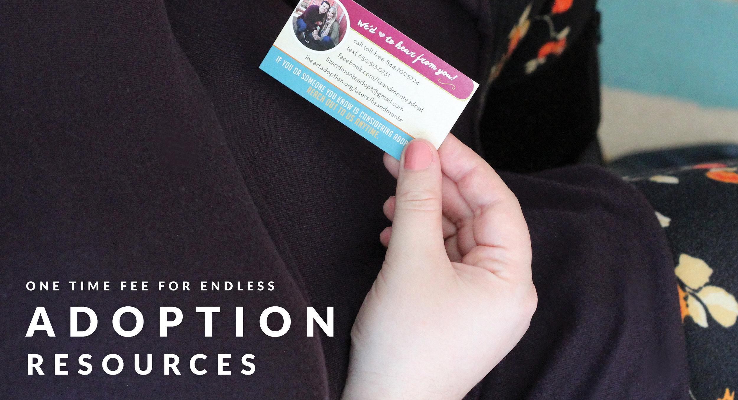 Adoption outreach cards