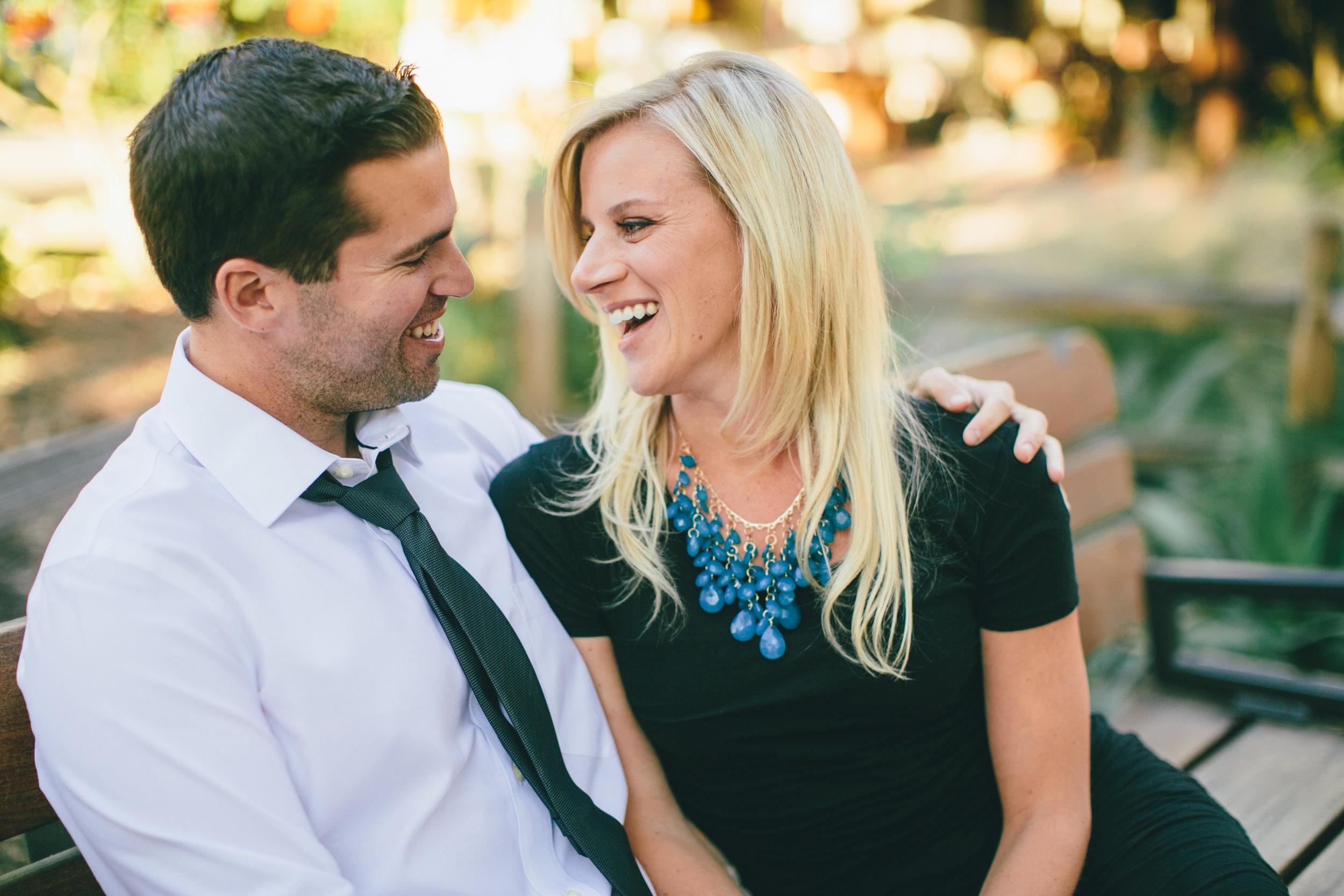 We enjoy laughing together...often!