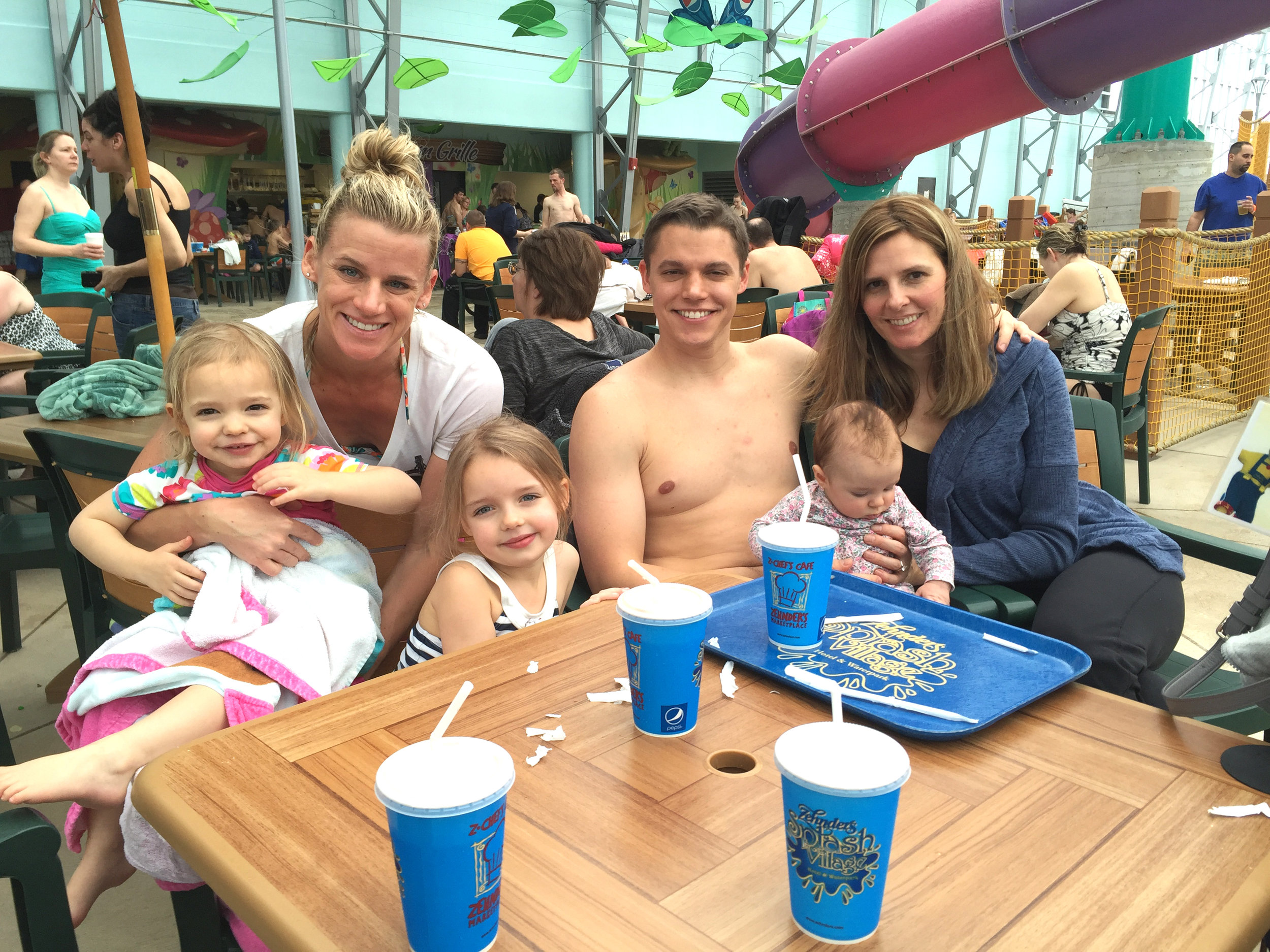 Water park adventures with nieces Vanessa, Natalie and Emily