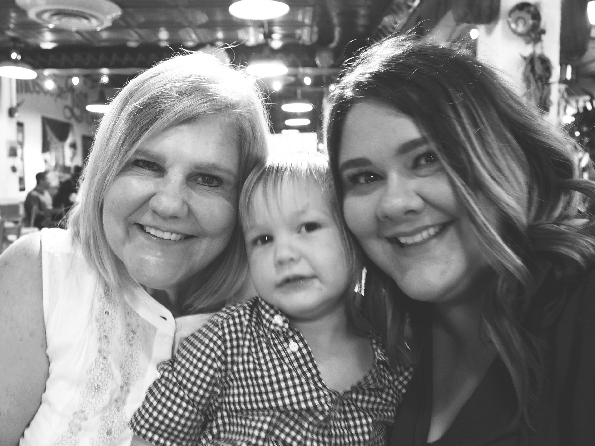 Lyndsey's mom, Mercer, and Lyndsey's twin sister