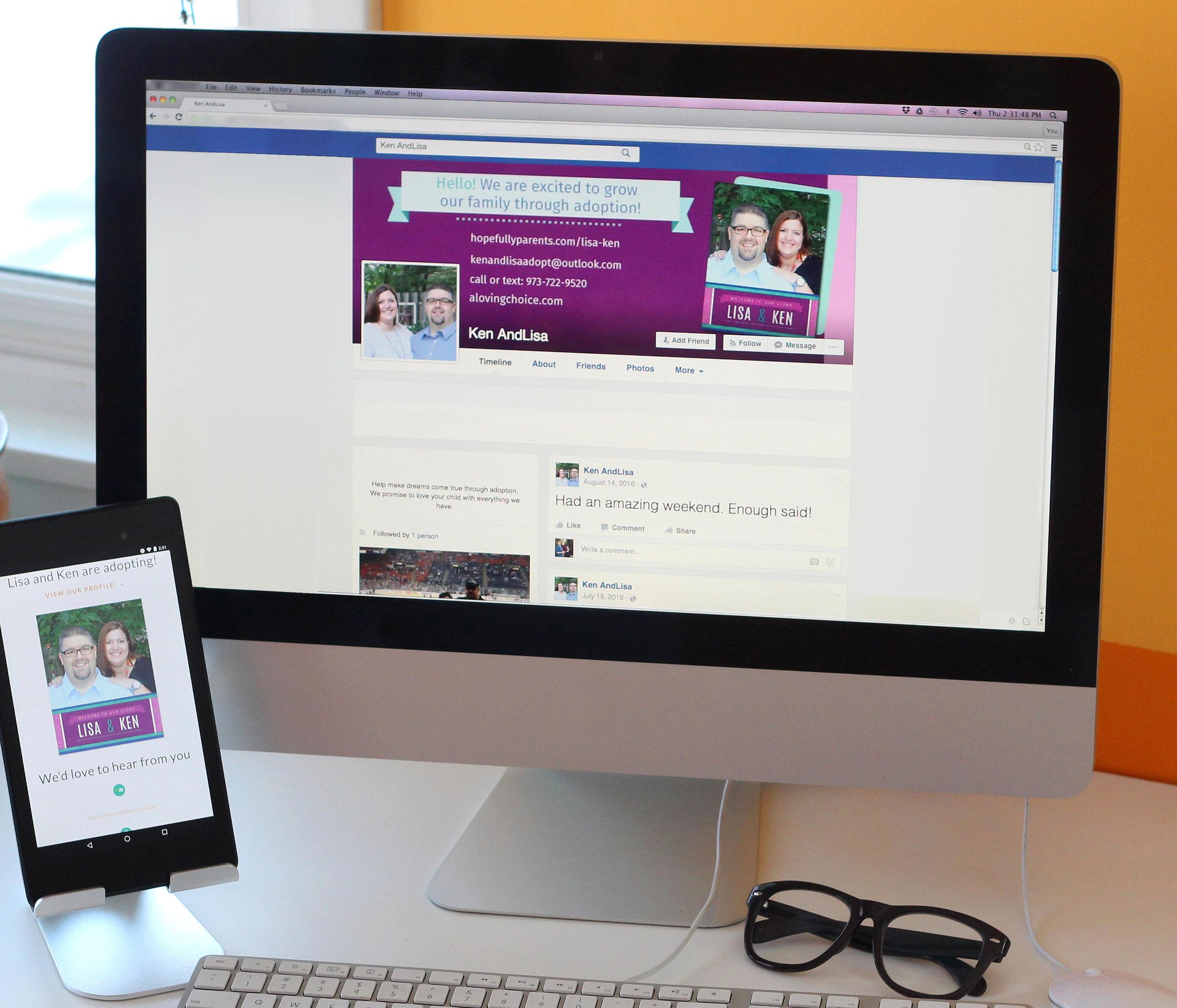 Adoption networking Facebook User Guide and Cover Photo Design Adoption Outreach Materials
