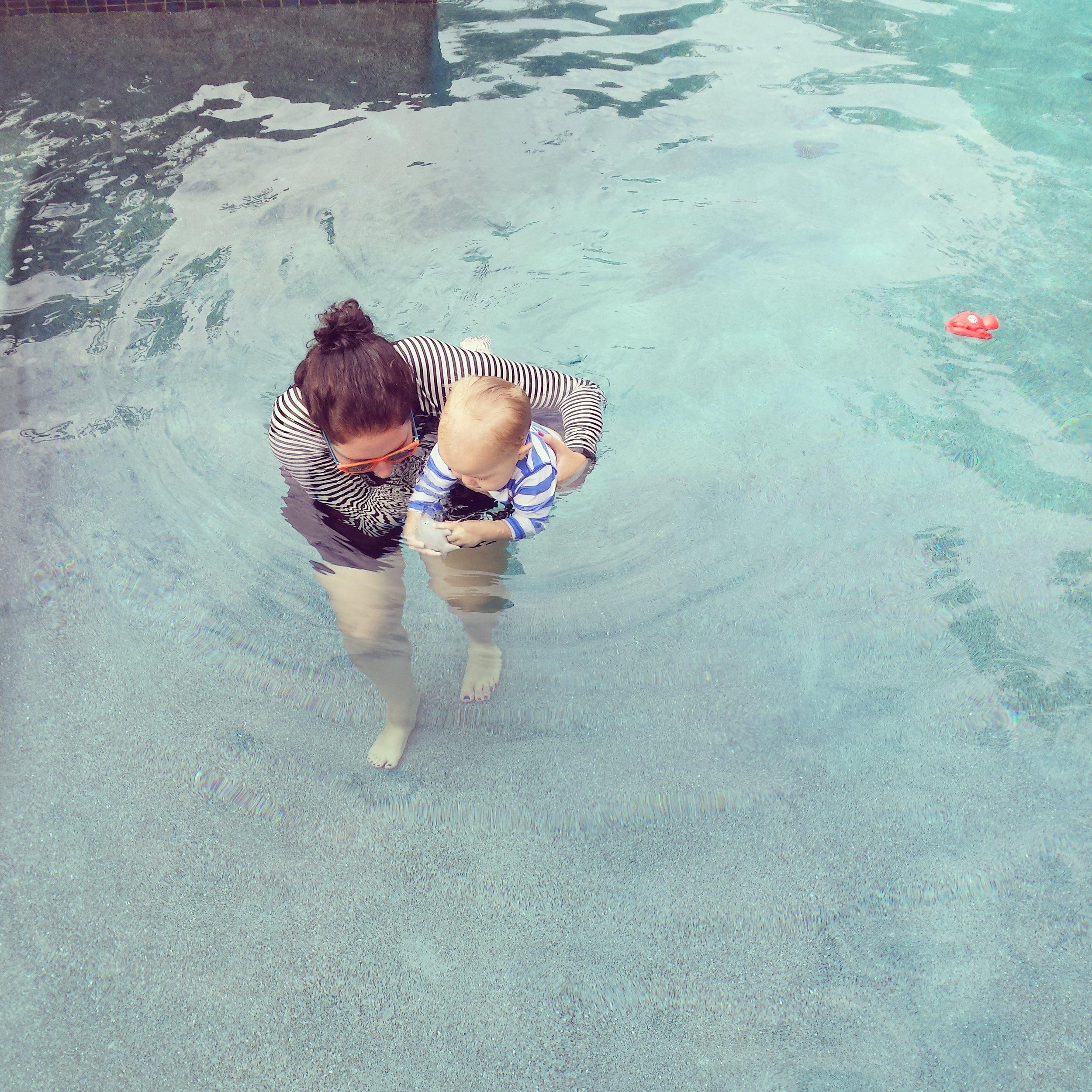Swim lessons with Mercer