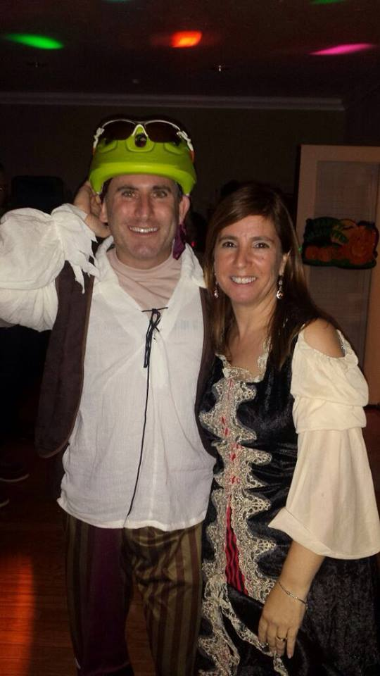 We dressed as pirates one year for Halloween