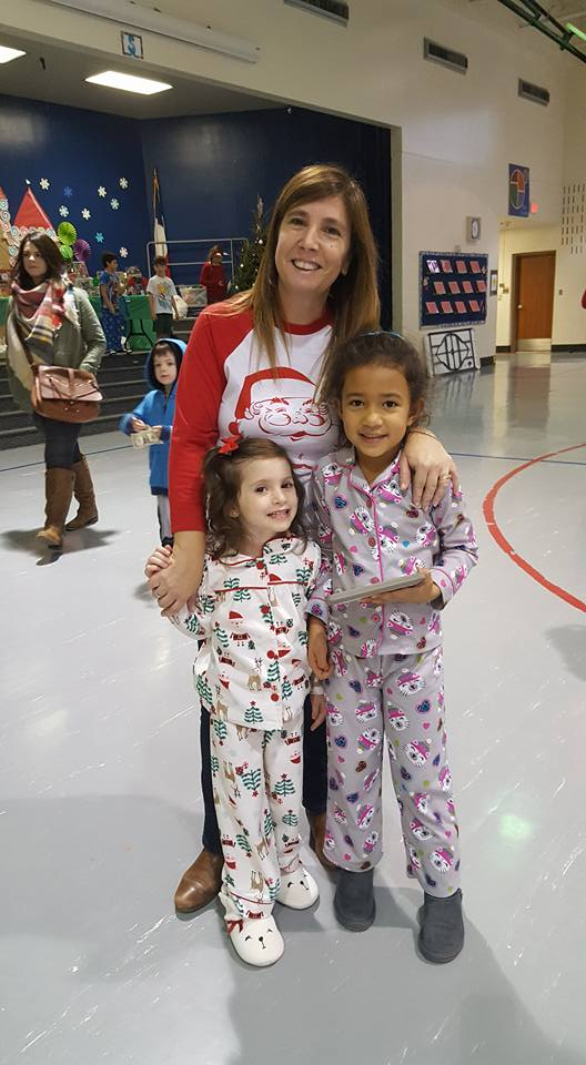 Pajama party at school with friends