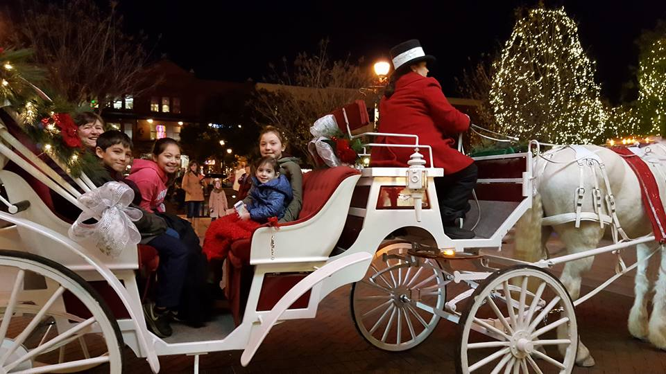 Carriage ride with cousins