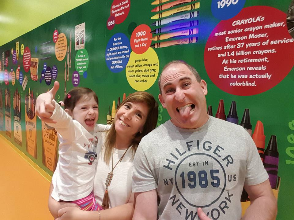 Thumbs up at the Crayola museum