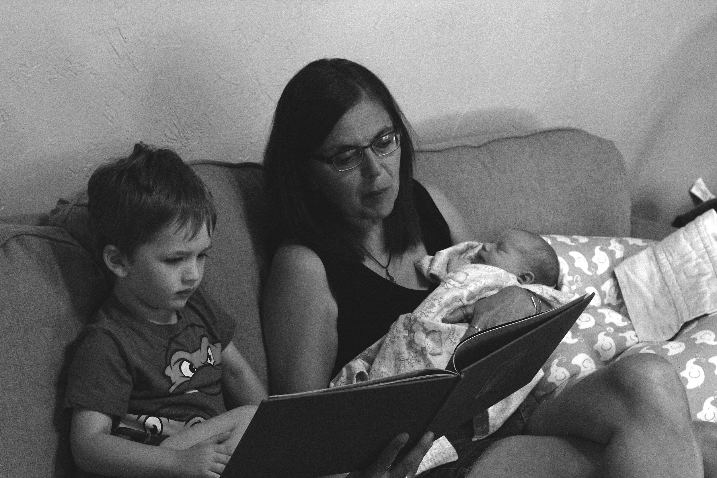 Grandma loves reading to her grandsons