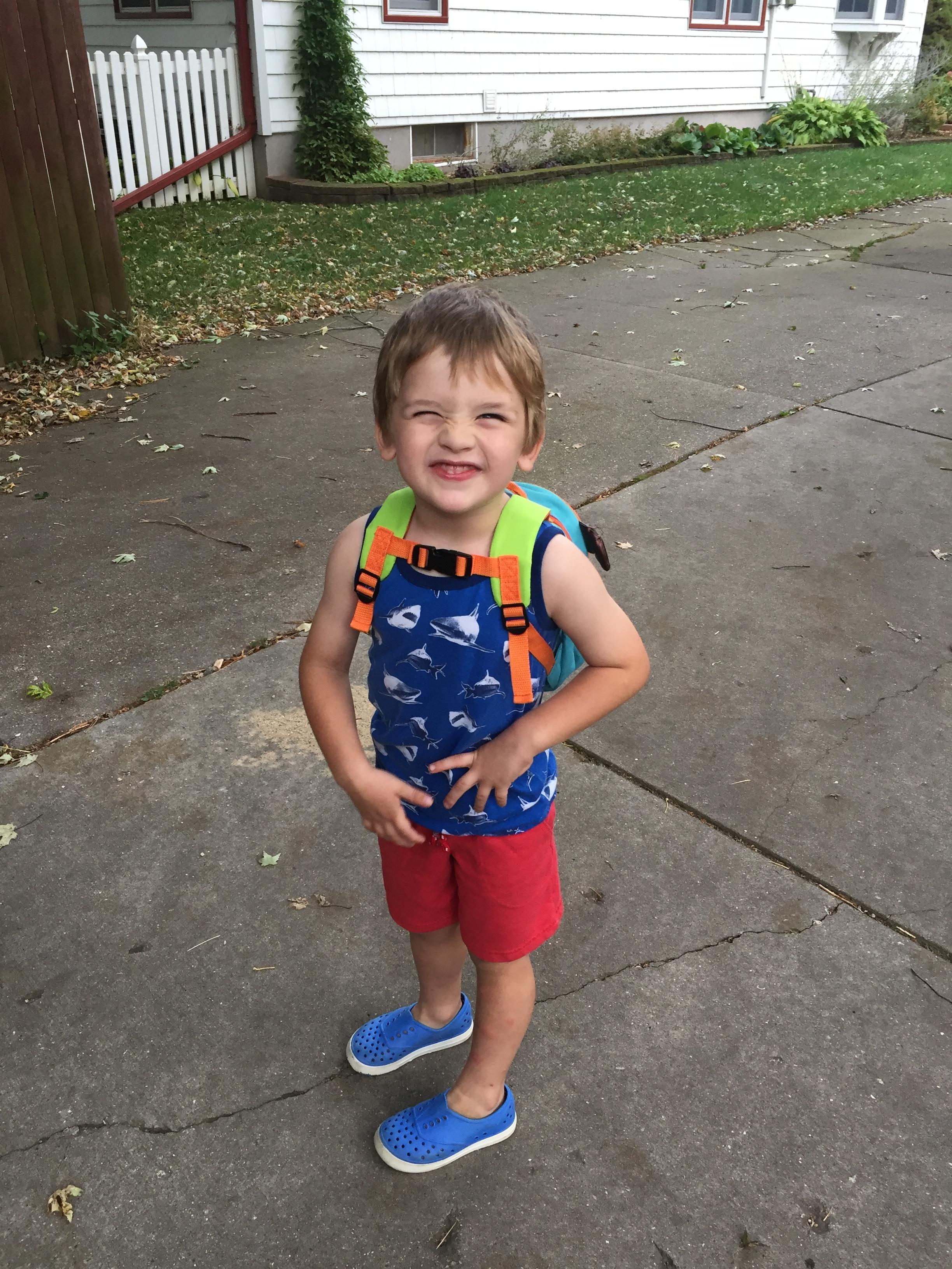 Louis is ready for school!