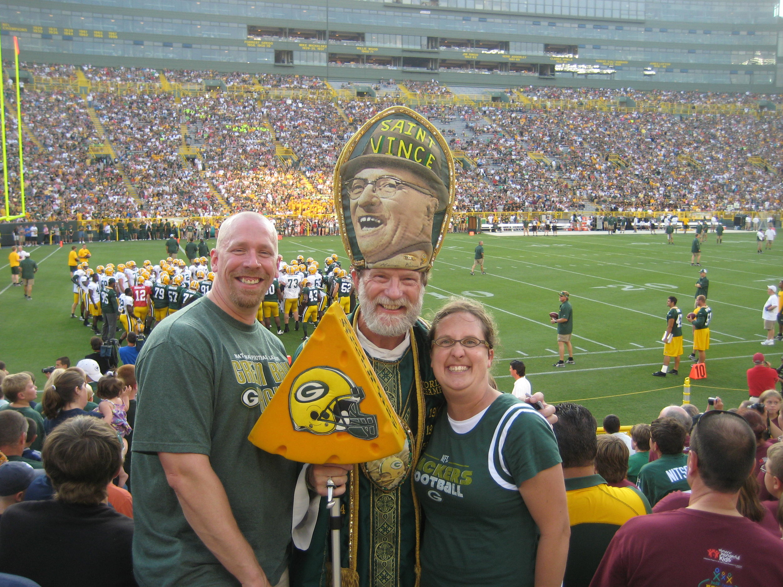 Go Packers! We enjoy going to football games