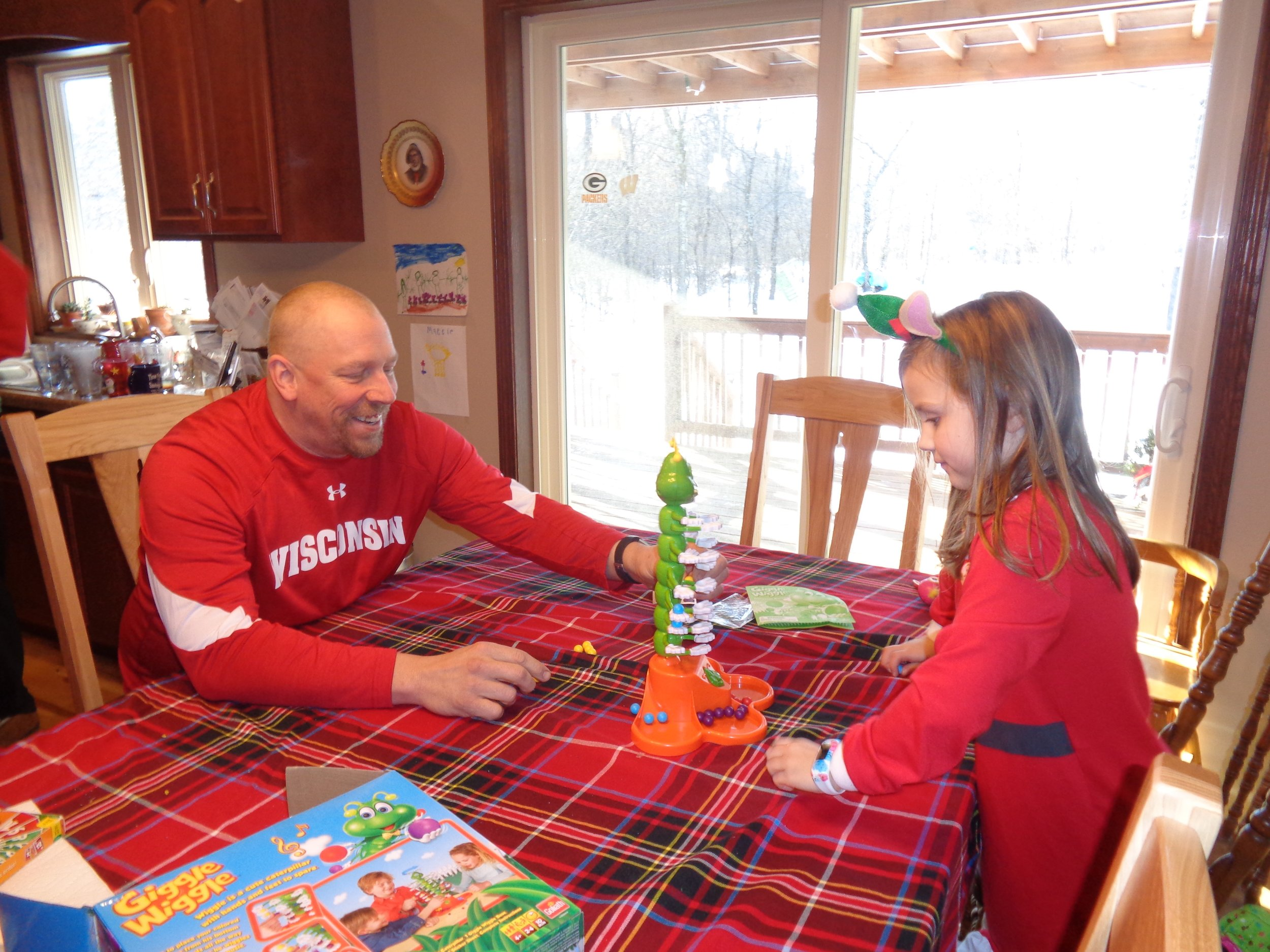 We love playing games with our niece