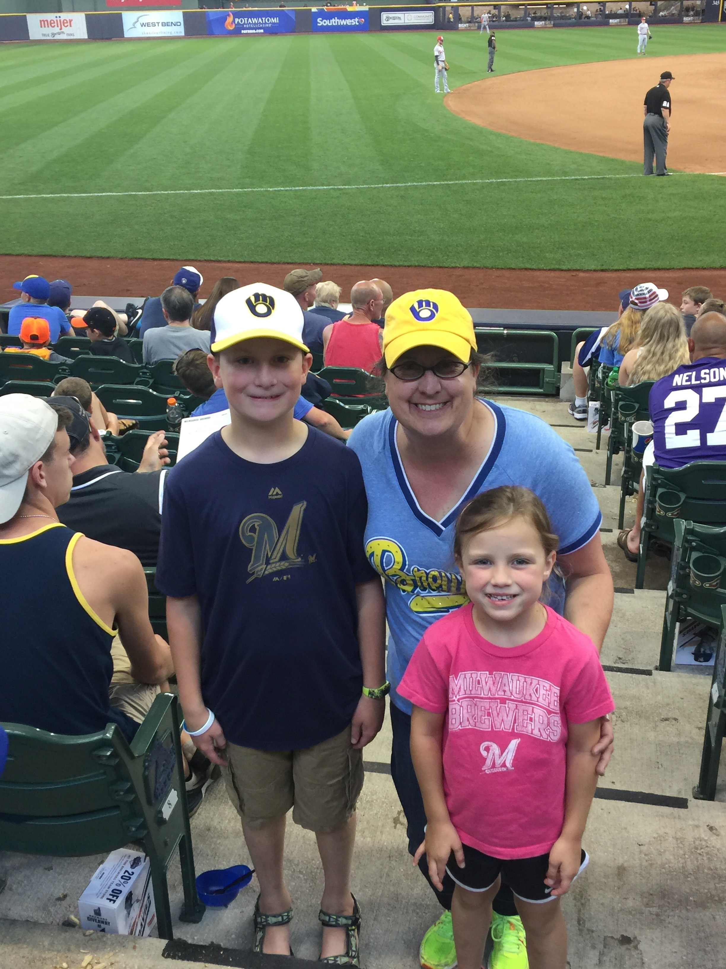 Going to baseball games with our family is one of our favorite things to do!