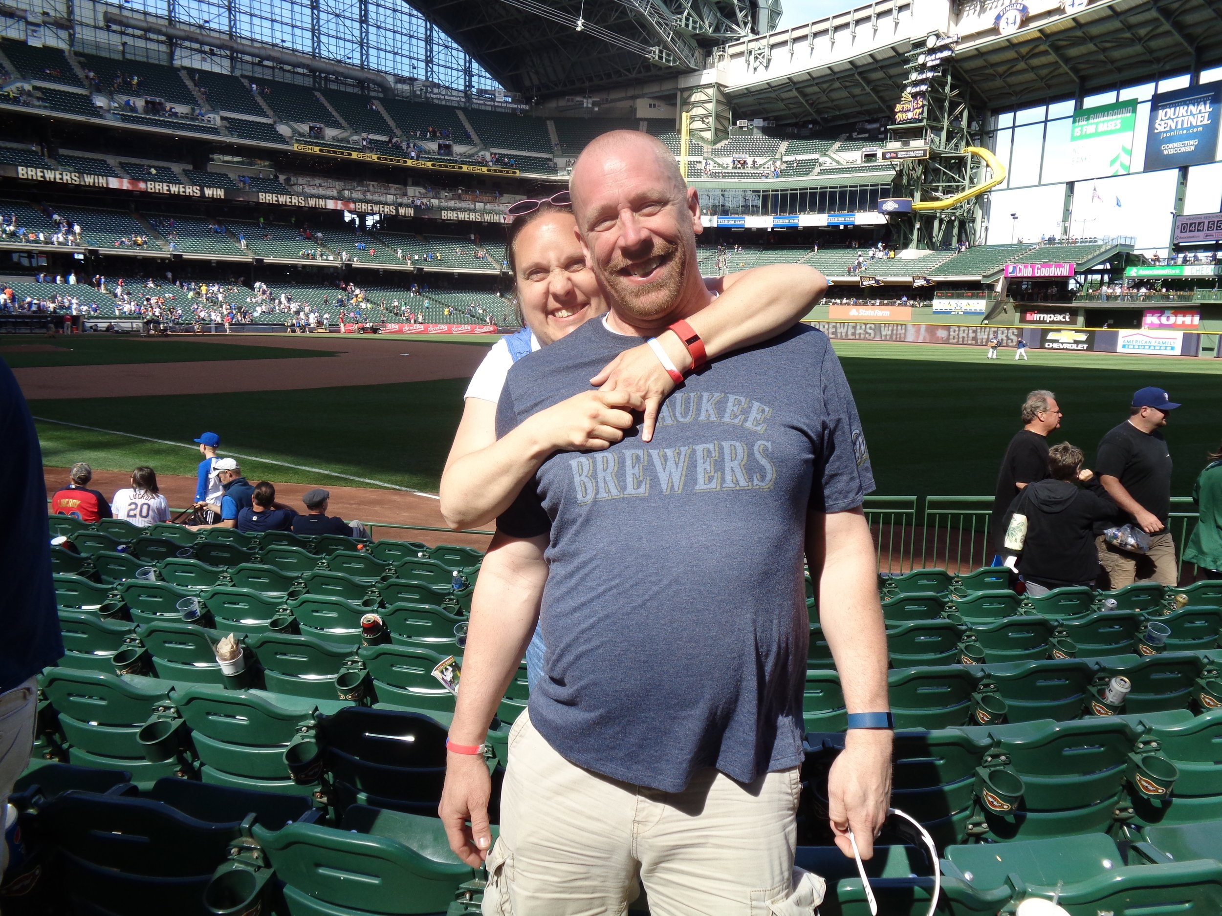 Take me out to the ball game! Go Brewers!