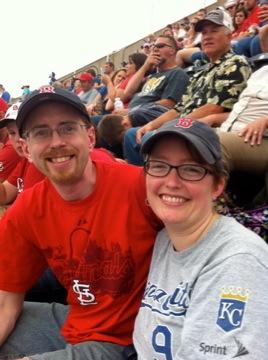 We enjoy watching baseball together