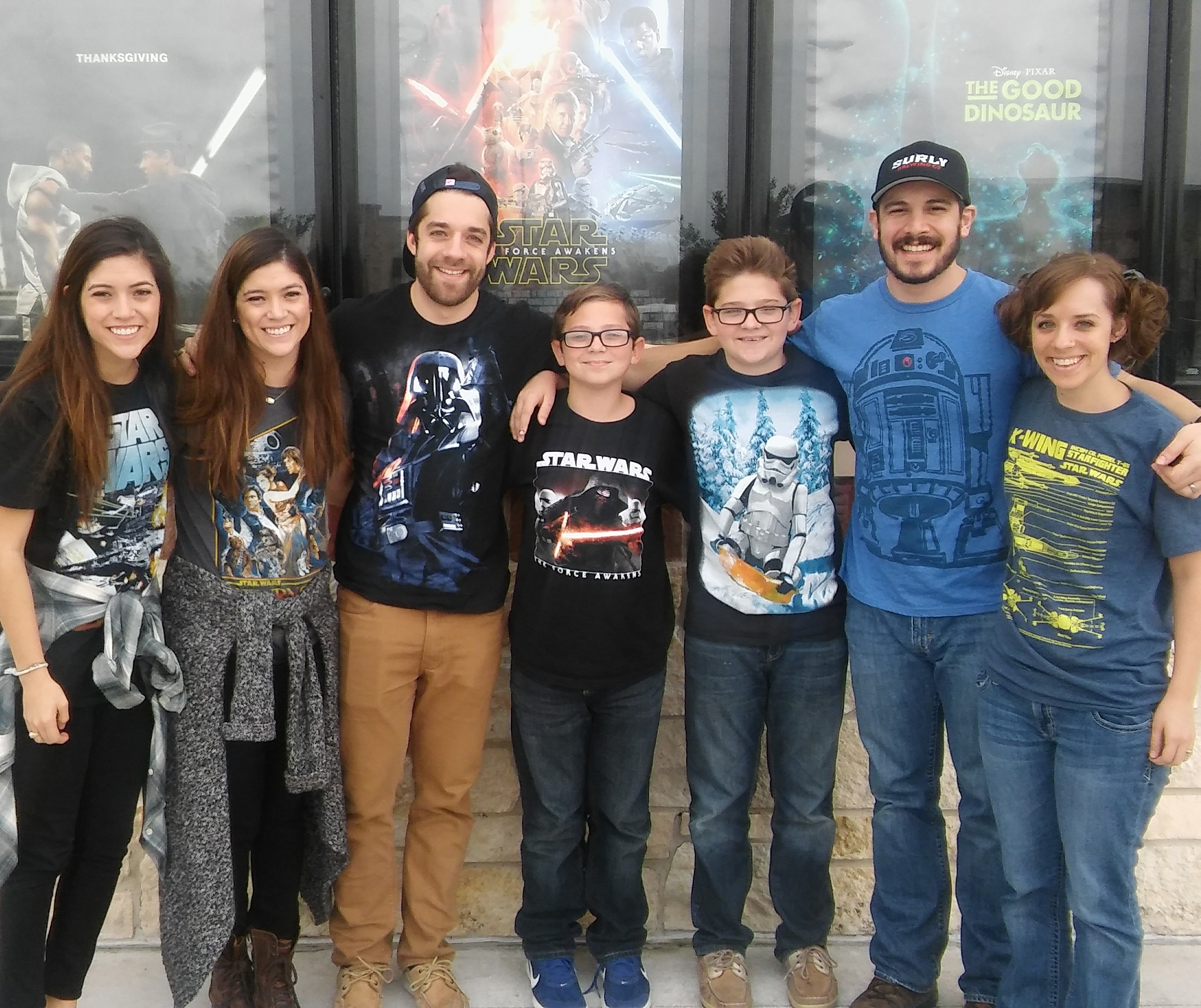 Star Wars with all of us kids