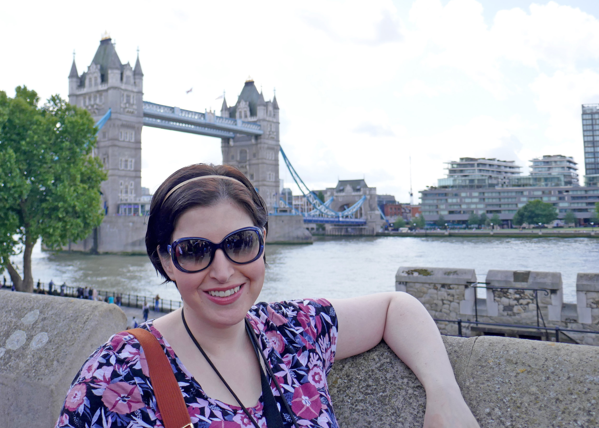 In front of Tower Bridge in London
