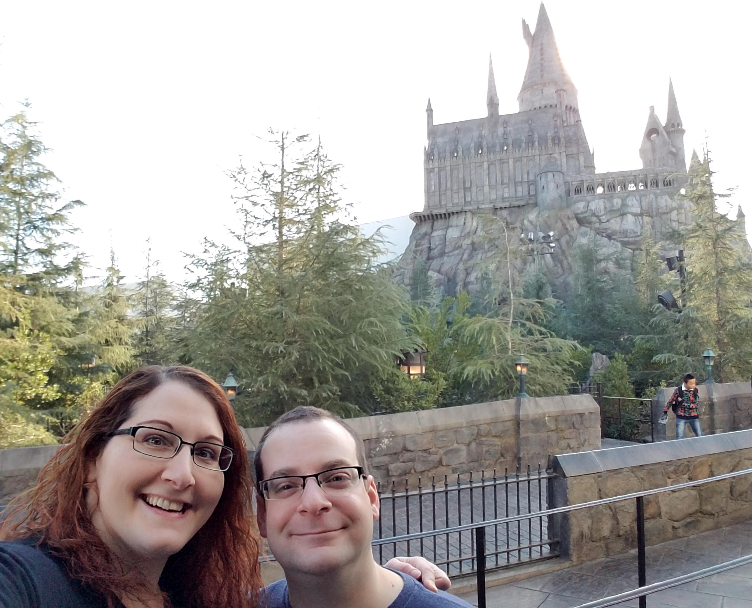 Outside Hogwarts castle Universal Studios.jpg