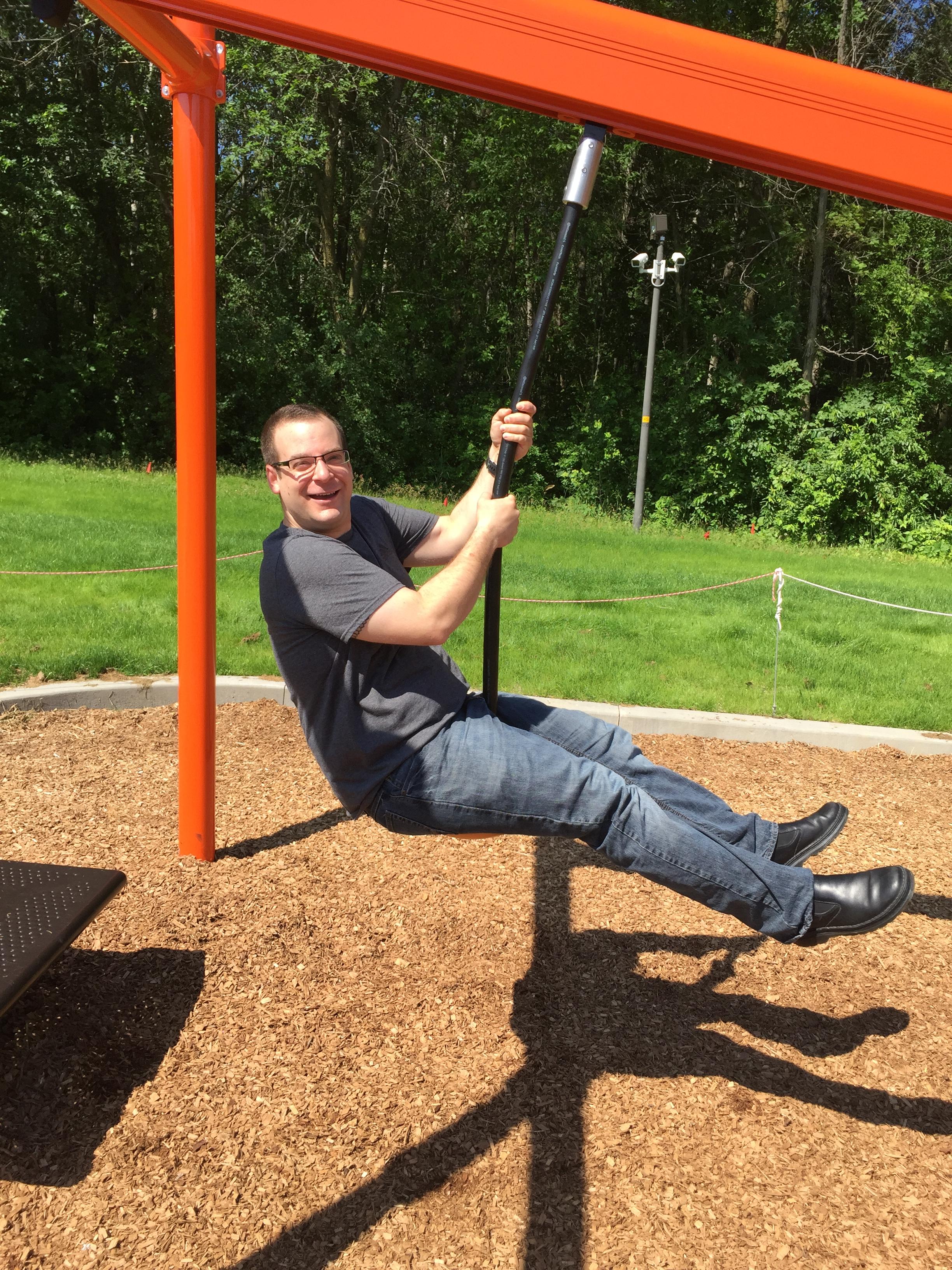 Steve playing at park Minnesota.JPG